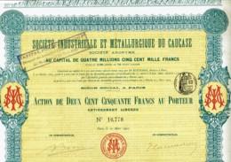 75-INDUSTRIELLE ET METALLURGIQUE DU CAUCASE. 1903. Lot De 2 - Other