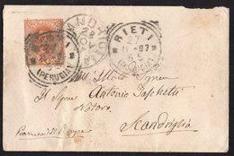 ITALY KINGDOM ITALIA REGNO 1897. RIETI PERUGIA SCANDRIGLIA LETTERA COVER - Entero Postal