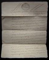 1792 Quittance De Jean Bareau à Aimé Et Françoise Benoit, Enregistrée à Chizé - Manuscripts