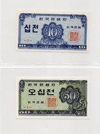 COREE Du SUD / Superbe Billet De 1962 UNC N° 28 / 29 Du Paper Money - Corée Du Sud