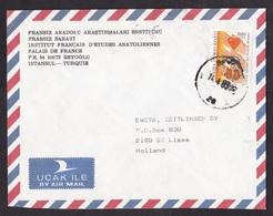 Turkey: Airmail Cover To Netherlands, 1989, 1 Stamp, Organ Donation, Transplantation, Heart, Eye, Kidney (traces Of Use) - Brieven En Documenten