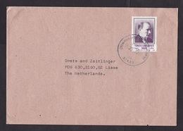 Turkey: Cover To Netherlands, 1990, 1 Stamp (traces Of Use) - 1921-... République