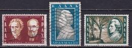 GREECE 1957 D. Solomos Complete USED Set Vl. 723 / 725 - Gebruikt