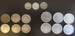 France - Lot De 15 Monnaies 50 Cts, 1 Franc Et 2 Francs Semeuse Argent - 1902 à 1918 - TB à SUP - France
