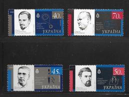 UKRAINE 2002 CELEBRITES EXPLORATION SPATIALE  YVERT N°471/74  NEUF MNH** - Ukraine
