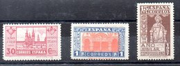 Serie De España N ºEdifil 833/35 ** Goma No Original - 1931-50 Nuevos & Fijasellos