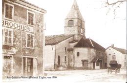 SAINT JULIEN EN VERCORS. CP L'église Vers 1900 Offert Par Les éditions Atlas - Autres Communes