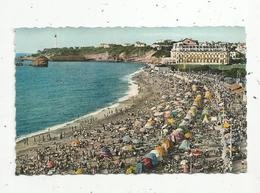 Cp , 64 , BIARRITZ ,grande Plage , Voyagée 1962 - Biarritz