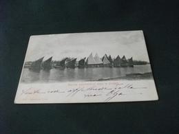 PICCOLO FORMATO PESCA PESCATORI BARCHE PESCHERECCE DOPO LA PIOGGIA 1902 - Pesca