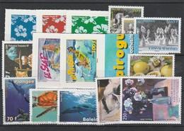 LOT 1525  POLYNESIE FRANCAISE  N° 869 à 881-894-895 ** - French Polynesia