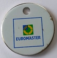 Jeton De Caddie - EUROMASTER - En Métal - - Trolley Token/Shopping Trolley Chip