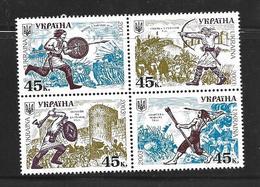 UKRAINE 2003 HISTOIRE DE L'ARMEE UKRAINIENNE  YVERT N°497/500  NEUF MNH** - Ukraine