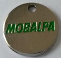 Jeton De Caddie - MOBALPA - En Métal - - Trolley Token/Shopping Trolley Chip