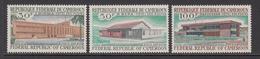 1969 Cameroun Post Office Buildings Set Of 3 MNH - Kameroen (1960-...)