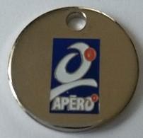 Jeton De Caddie - APERO - Apéritifs Sans Alcool - BOUGUET PAU SA - En Métal - - Trolley Token/Shopping Trolley Chip