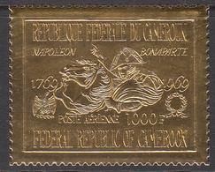 1969 Cameroun Napoleon Crossing St Bernard Embossed On Gold Foil Set Of 1 MNH - Cameroon (1960-...)