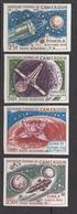 1967 Cameroun Space Satellites Rockets, Lunar Landing Set Of 4 Imperf. Non Dentale Set Of 4 MNH - Cameroon (1960-...)