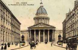 Paris Le Pantheon Et Rue Soufflot - Arrondissement: 05