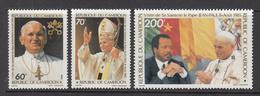1985 Cameroun Visit Of Pope John Paul II Set Of 3 MNH - Cameroon (1960-...)