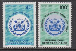 1983 Central African Republic 25th Anniv Of Intl. Maritime Organisation Set Of 2 MNH - Centraal-Afrikaanse Republiek