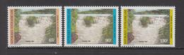 1985 Central African Republic Kotto Waterfalls Set Of 3 MNH - Zentralafrik. Republik