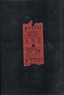 TICKETS D'ENTRÉE CAR PARKS AT OWNER'S RISK 1968 - Tickets - Vouchers