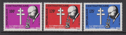 1982 Central African Republic TBB Bacillus Centenary Set Of 3 MNH - Centraal-Afrikaanse Republiek