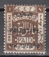 PALESTINE       SCOTT NO. 48       USED      YEAR  1922    WMK 4 - Palestine