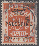 PALESTINE       SCOTT NO. 52       USED      YEAR  1922    WMK 4 - Palestine