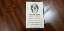 """Carte Mortuaire """"Soeur Marie-Bernadette - Dit Marie-Antoinette MORIAME  """" Décorée De La Croix De Guerre Avec Palme - Guerra 1914-18"""