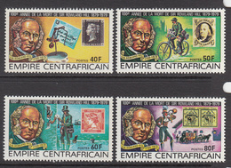 1978 Central African Republic Sir Rowland Hill Originator Of Penny Black Set Of 4 MNH - Zentralafrik. Republik