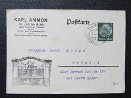 BRIEF Pulverkrug Frankfurt A.Oder 1938 Werbung Ammon ///  D*35116 - Germania