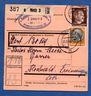 Allemagne - Colis Postal Départ Metz - 05/6/1943 - Germany