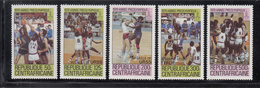 1980 Central African Republic  Pre-olympic Year Overprinted With Gold Medal Winners Set Of 5 MNH - Centraal-Afrikaanse Republiek
