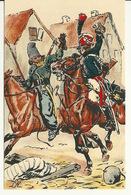 ARMEE FRANCAISE / 1er EMPIRE - LES GARDES D'HONNEUR SABRENT LES COSAQUES DANS REIMS En 1814 - Regimenten