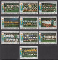 1981 Central African Republic World Cup Soccer Spain Set Of 10 MNH - Zentralafrik. Republik