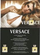 1 Grande Carte Glacée Versace Anglaise - Perfume Cards
