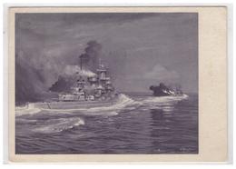 Dt- Reich (006024) Propagandakarte Scharnhorst Und Gneisenau Gegen Glorius, Gelaufen Mit Feldpost Am 5.8.1940 - Deutschland