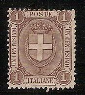 (Fb).Regno.Umberto I.1896-97.-1c Bruno Nuovo,gomma Integra,MNH (99-16) - Mint/hinged