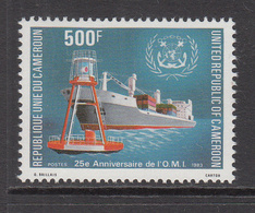 1983 Cameroun 25th Anniv Of Intl Maritime Org. Freighter Set Of 1 MNH - Kameroen (1960-...)
