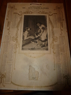 1915  Carton-Calendrier Publicitaire Librairie GUIGNARD ,17 Bis Av. De La Gare à  AUTUN (fillette Avec Chien Et Toutou) - Calendriers