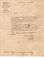 INVITATION Du PREFET AVEYRON Le 05/12/1844 Au CONSEIL REVISON CLASSE 1885 à Mr C. VERGNES Conseiller Général - Old Paper
