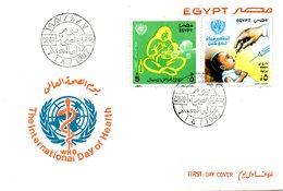 EGYPTE. N°1331-2 De 1987 Sur Enveloppe 1er Jour. OMS. - WHO