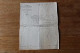 Lettre D'attribution Medaille Pour Facteur  Medaille D'honneur  Des Postes Et Télégraphes 1901 - Diploma & School Reports