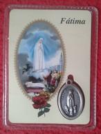 PORTUGAL MEDALLA MÉDAILLE MEDAL O SIMIL FÁTIMA EN SU PLÁSTICO / BLISTER VIRGEN OBJETO DE RELIGIÓN VIRGIN RELIGIOSO VER F - Fichas Y Medallas