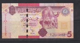 LIBYA-5-DINAR-CIRCULATED-SEE-SCAN - Libya