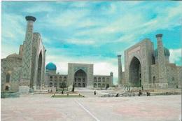 Asie - Ouzbékistan - 1 Timbre Philatélique Au Verso - Voir Scan - Cpm - écrite - - Uzbekistan