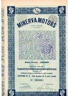 MINERVA MOTORS 1/10 AANDEEL ANTWERPEN - Automobile