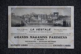 """BEZIERS - Opéra """" LA VESTALE """", Carte Publicitaire Des Grands Magasins Parisiens à BEZIERS - Beziers"""