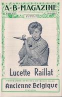 MUSIC-HALL ANCIENNE BELGIQUE (BRUXELLES) - LUCETTE RAILLAT. - Programs